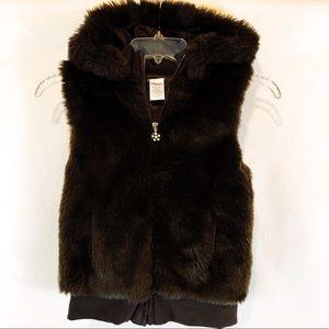 Gymboree Faux Fur Hooded Vest